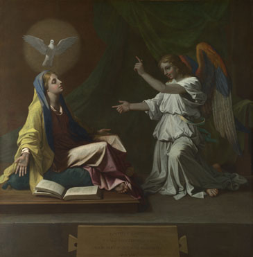 Annunciation- Poussin